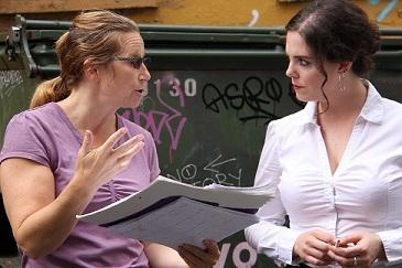 Amy directs Keara Barnes, The Waitress