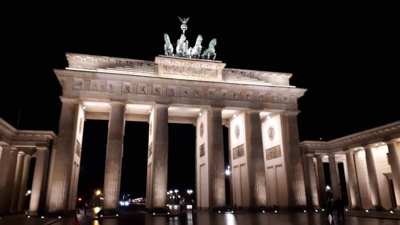 The historic Brandenburg Gate